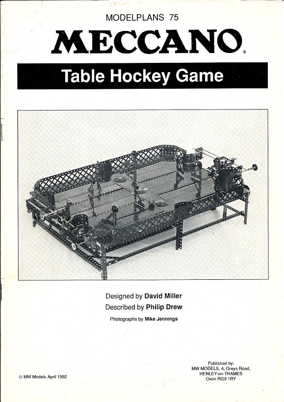 Modelplan 75 Table Hockey Game
