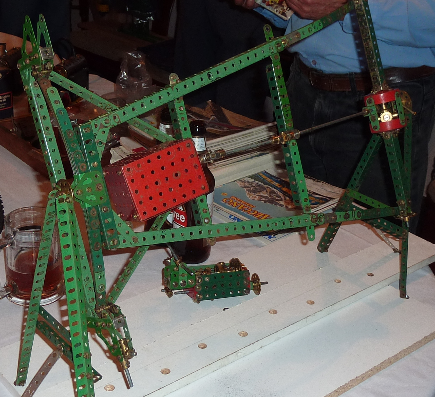 2011 October Model in progress of Austin 7 chassis on display stand by Chris Bates