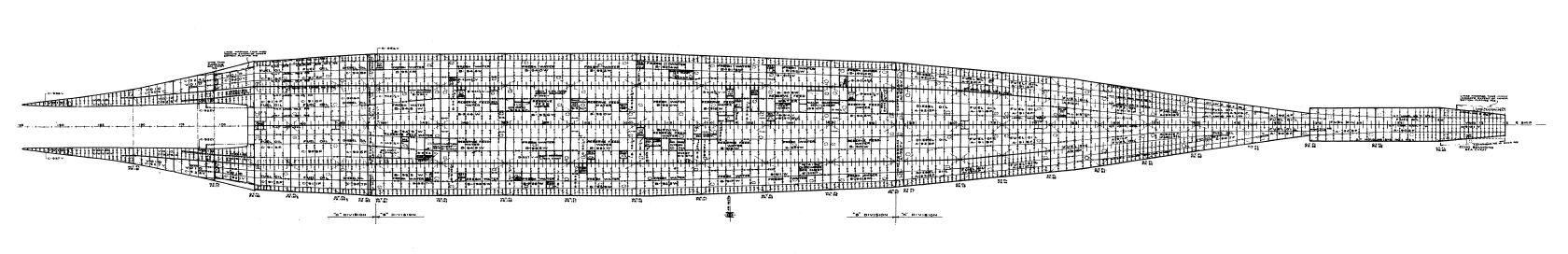 A low cross section through the hull