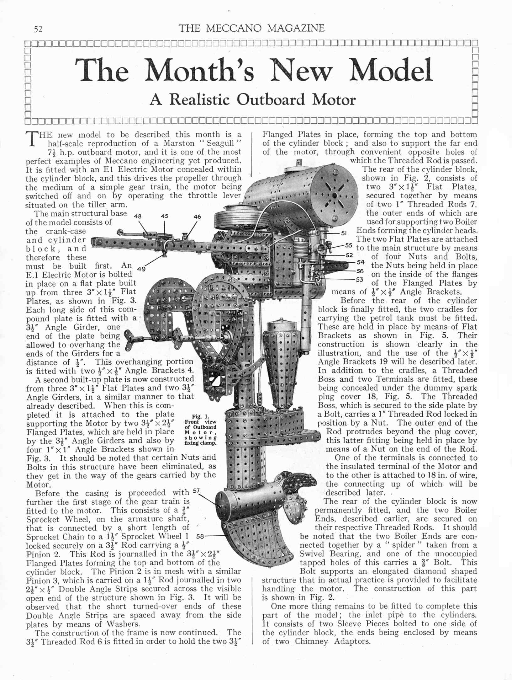 meccano outboard motor 1934 plan from MM